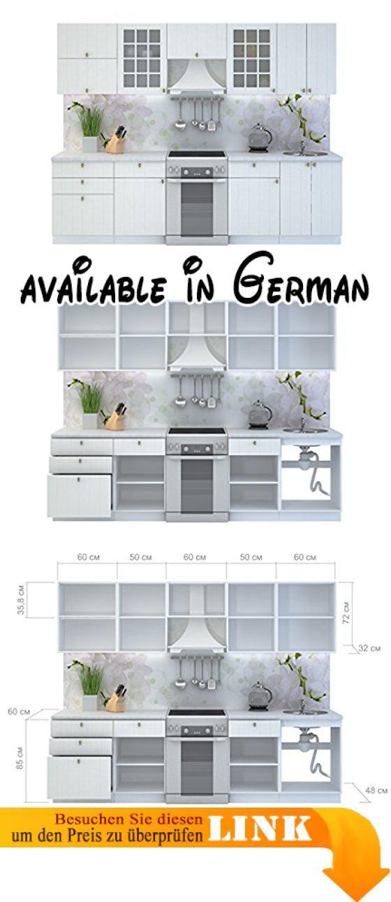 B078XB17CM  KÜCHE PROVENCE 280 CM KÜCHENZEILE EINBAUKÜCHE - einbauküchen für kleine küchen