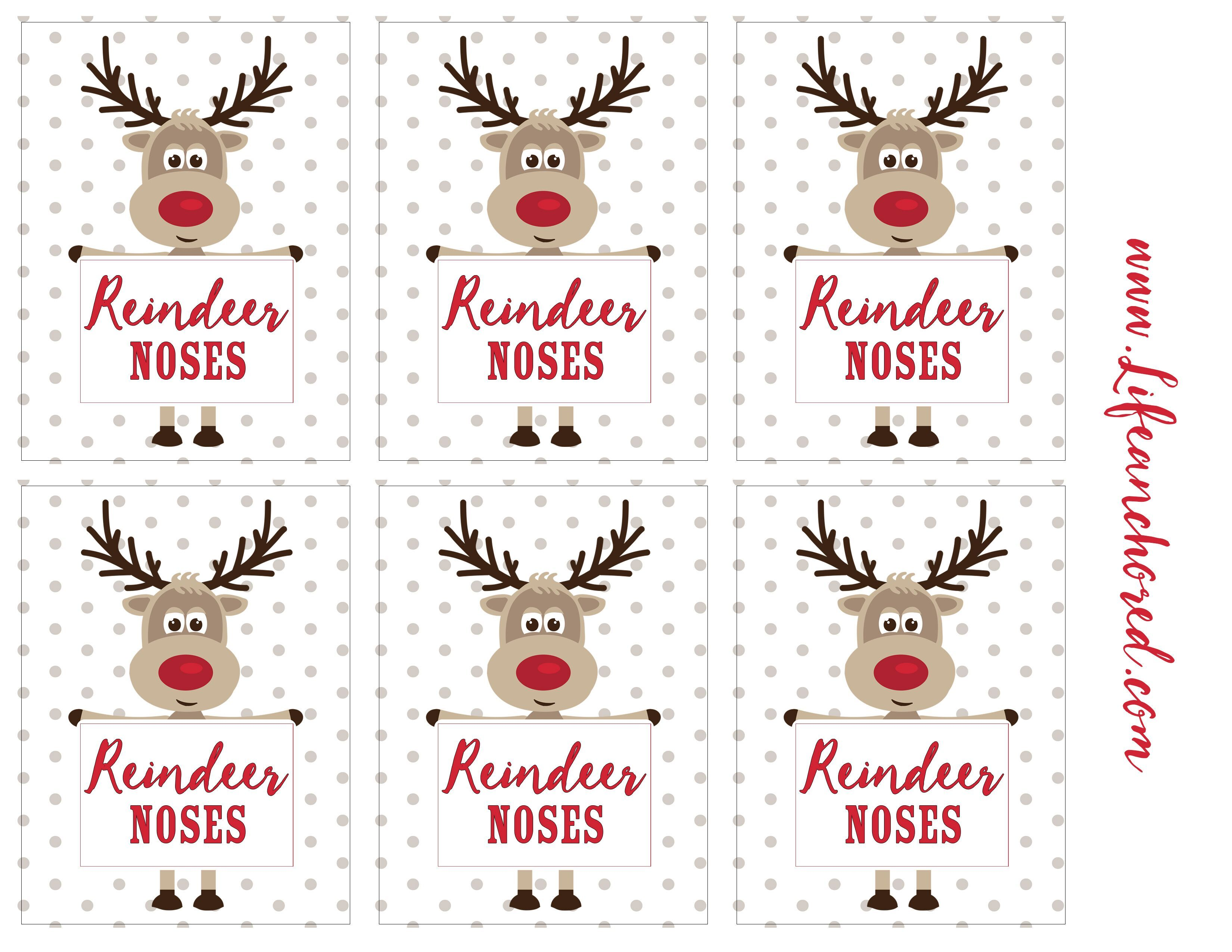 image about Reindeer Noses Printable titled Reindeer Noses Take care of Xmas Reindeer noses, No cost