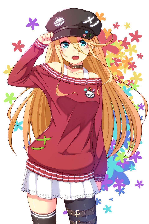 Anime girl with orange hair and blue eyes tumblr