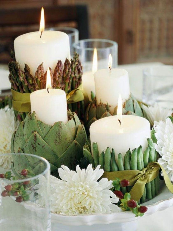 Herbstliche Tischdeko Mit Kerzen