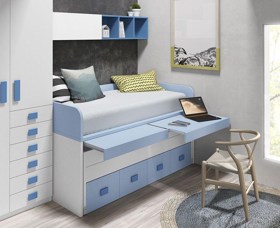 Cama Compacta Con 2 Mesas Escritorio Para Colchones De 90 105 X 190 Y 200 Puede Ser Con 3 Camas O Con En 2020 Muebles Ofertas Muebles Ideas De Muebles De Dormitorio