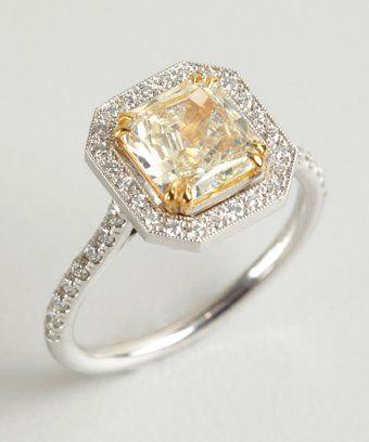 04727616656c Colette Nicolai   white and yellow square diamond ring