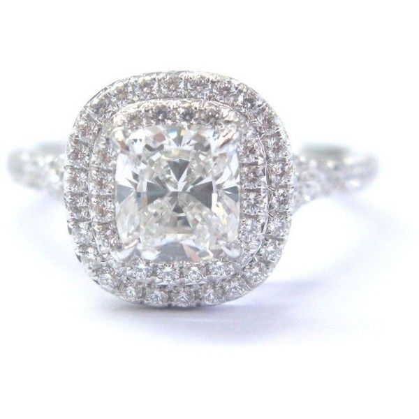 fb55438794ba Pre-owned Tiffany   Co. Platinum 1.35ct Diamond Soleste Engagement ...