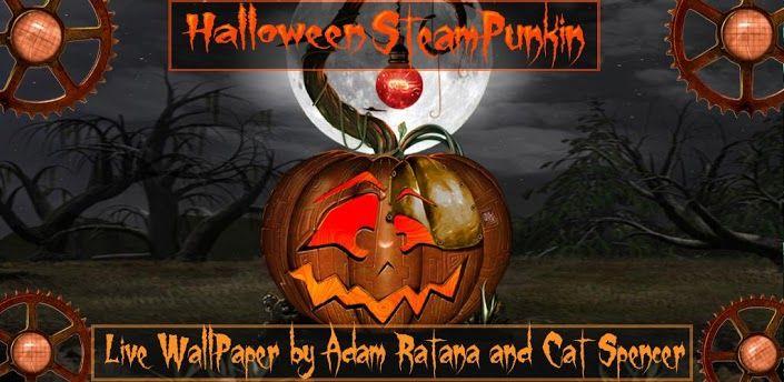 Halloween Steampunkin Lwp 1 0 1 Apk Requires Android 2 1 And Up Overview Halloween Steampunk Pumpkin Live Wallpaper With Live Wallpapers Halloween Wallpaper