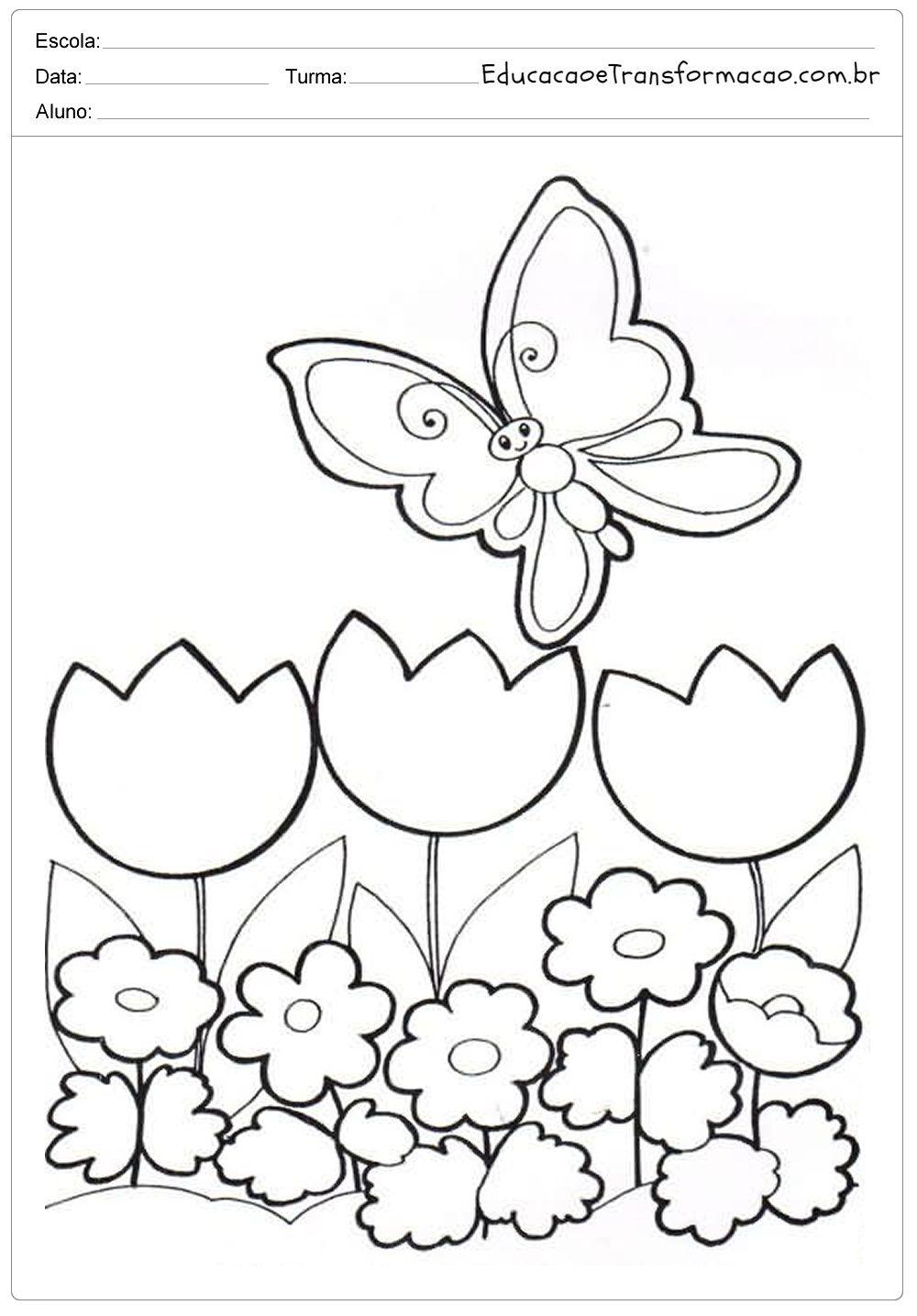 Moldes Para Primavera Estacao Das Flores Flores Arvores