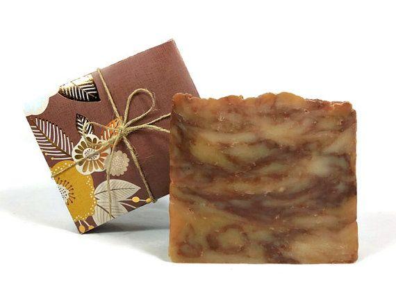 Large Chestnut Brown Sugar Soap Handmade Soap by SimpleHomeAccents #handmadesoap #vegan #brownsugar #naturalsoap #skincare