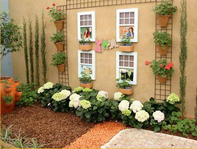 Decora o de quintal simples e pequeno fotos casa for Decoracion barata pisos pequenos