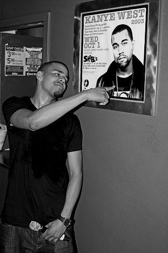 J Cole Pointing At Kanye West J Cole Ludacris Kanye