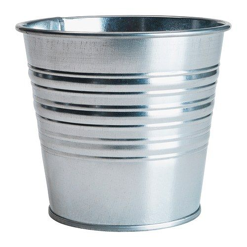 SOCKER  Plant pot, galvanized  $0.99  Article Number:101.556.71    outdoor hanging solar lights