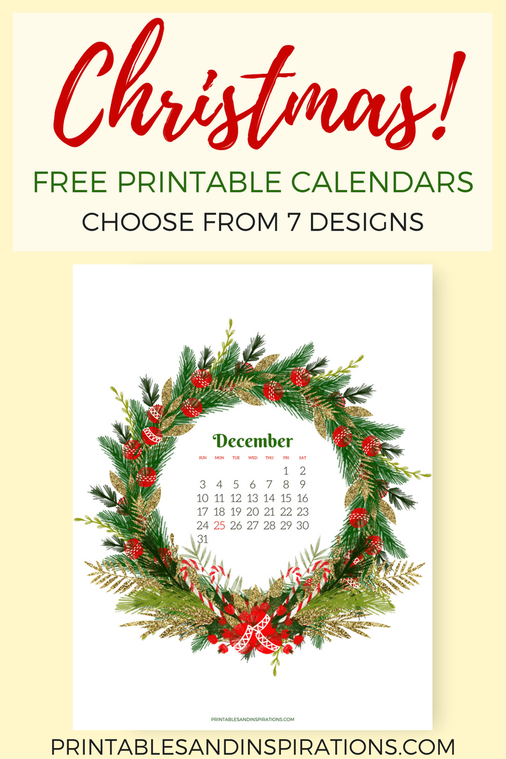 Free Christmas Calendars To Start Your Holiday Cheer Printables And Inspirations Christmas Calendar Planner Calendar Printables Planner Printables Free