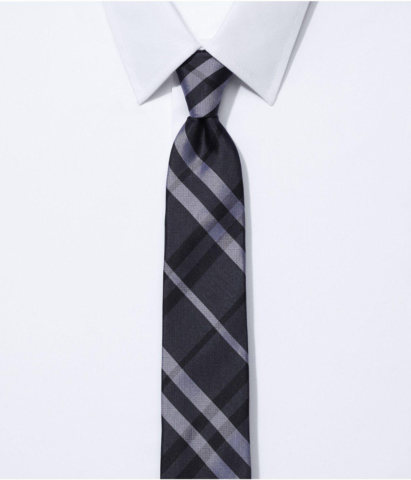 Narrow silk tie plaid express wedding a uu t pinterest