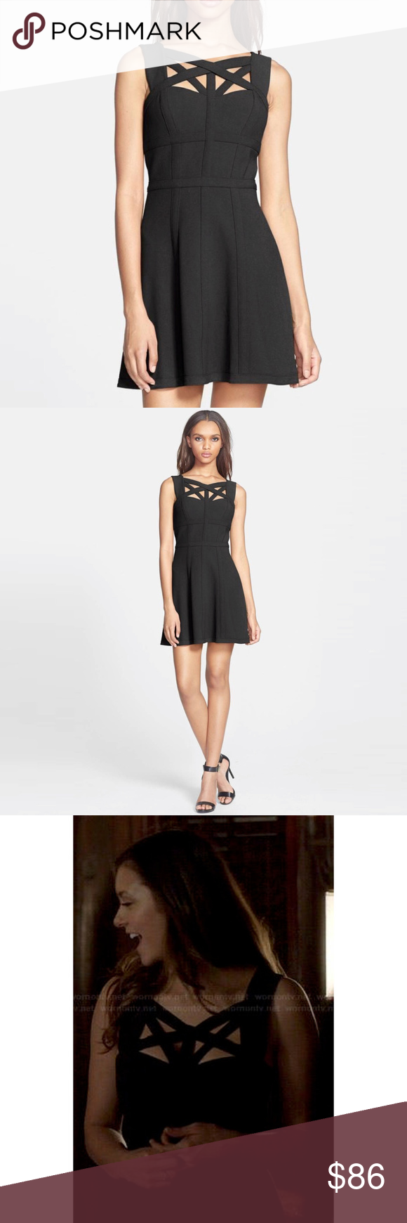 NWOT BCBG MAXAZRIA Black Corset A-Line Dress | Black corset, Black ...