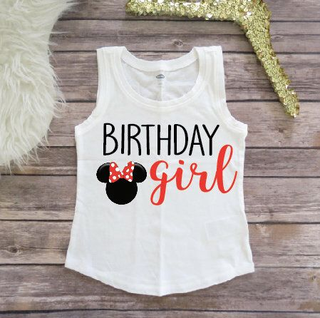 Minnie Mouse Birthday Shirt Party Girls
