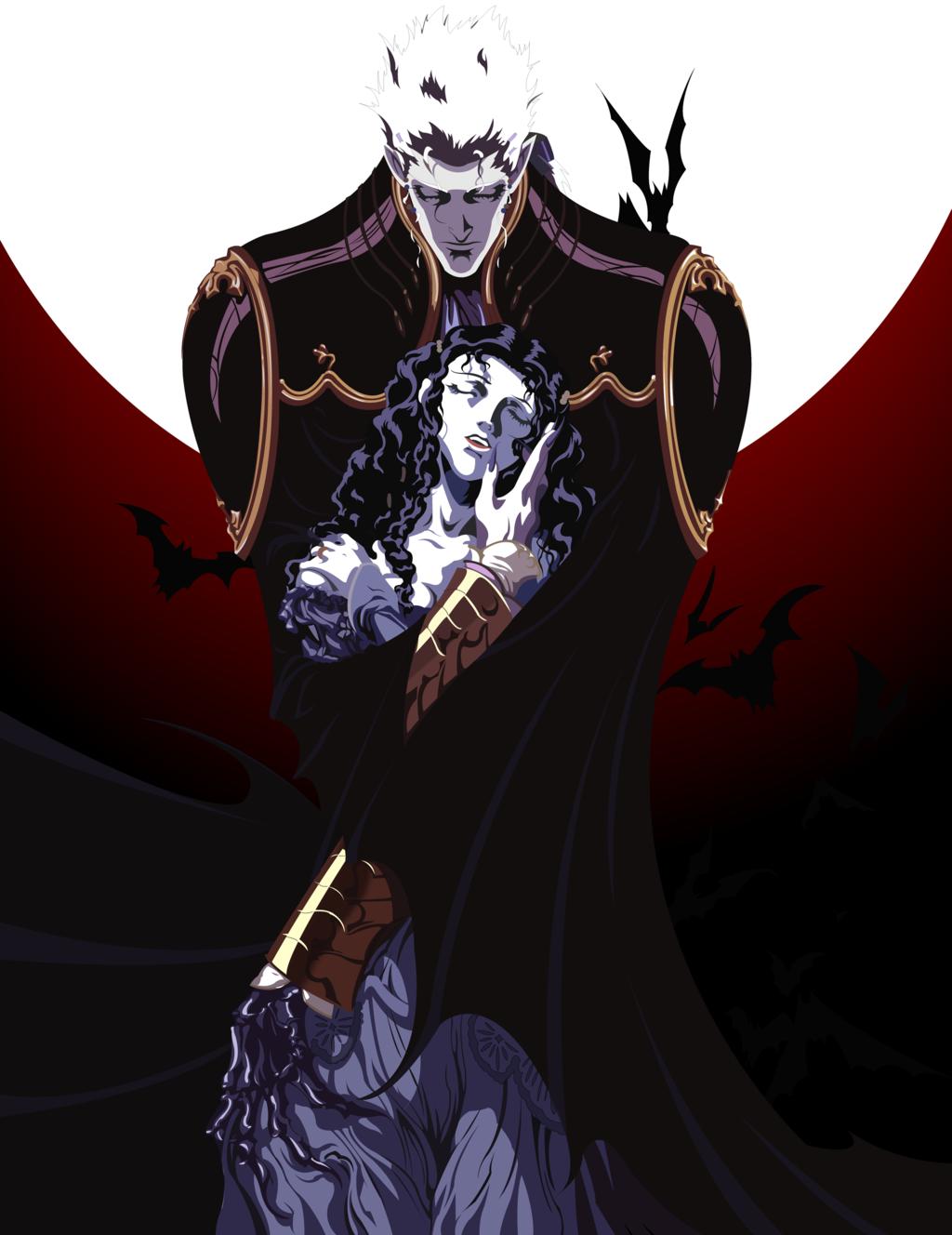 Vampire Hunter D Anime Characters : Baron meier link charlotte from vampire hunter d by