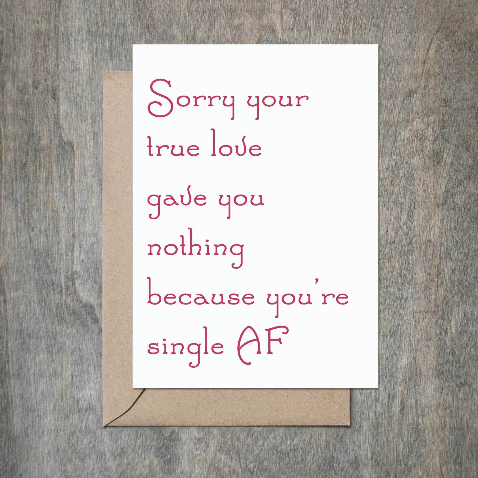 Single Af Holiday Card Funny Holiday Card Funny Christmas Card