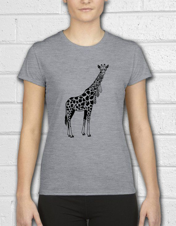 db7ce701 Giraffe Shirt, Giraffe t shirt, Womens shirt, Animal Shirt, Giraffe art, Womens  Tee, Womens Tshirts,