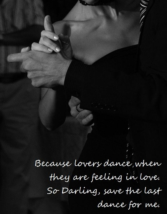 Because lovers dance when they are feeling in love  So