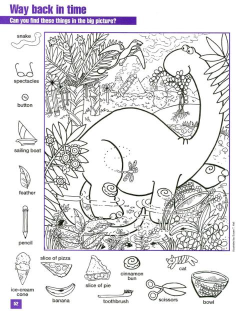 afbeeldingsresultaat voor werkblad baby dino - Printable Hidden Pictures For Kids