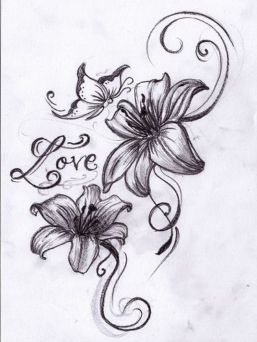 lilies tattoo tattoo ideas pinterest lily flower. Black Bedroom Furniture Sets. Home Design Ideas