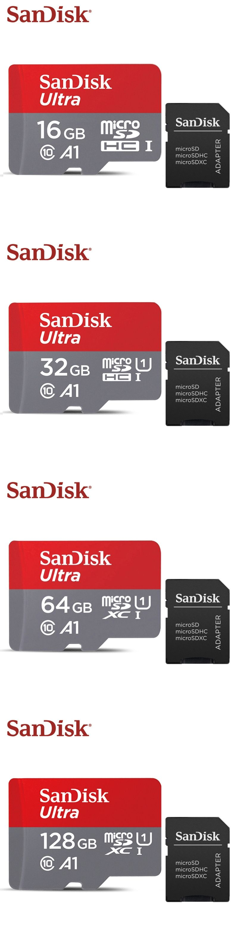 New Arrival Sandisk A1 Micro Sd Card Class10 16gb 32gb Microsd 64gb Class 10 128gb 100mb S Original Memory Retail Package