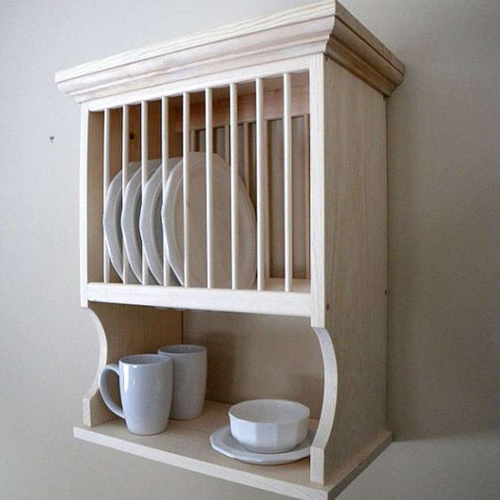 3 Different Wall-Mounted Dish Racks: What's Your Style? #dishracks