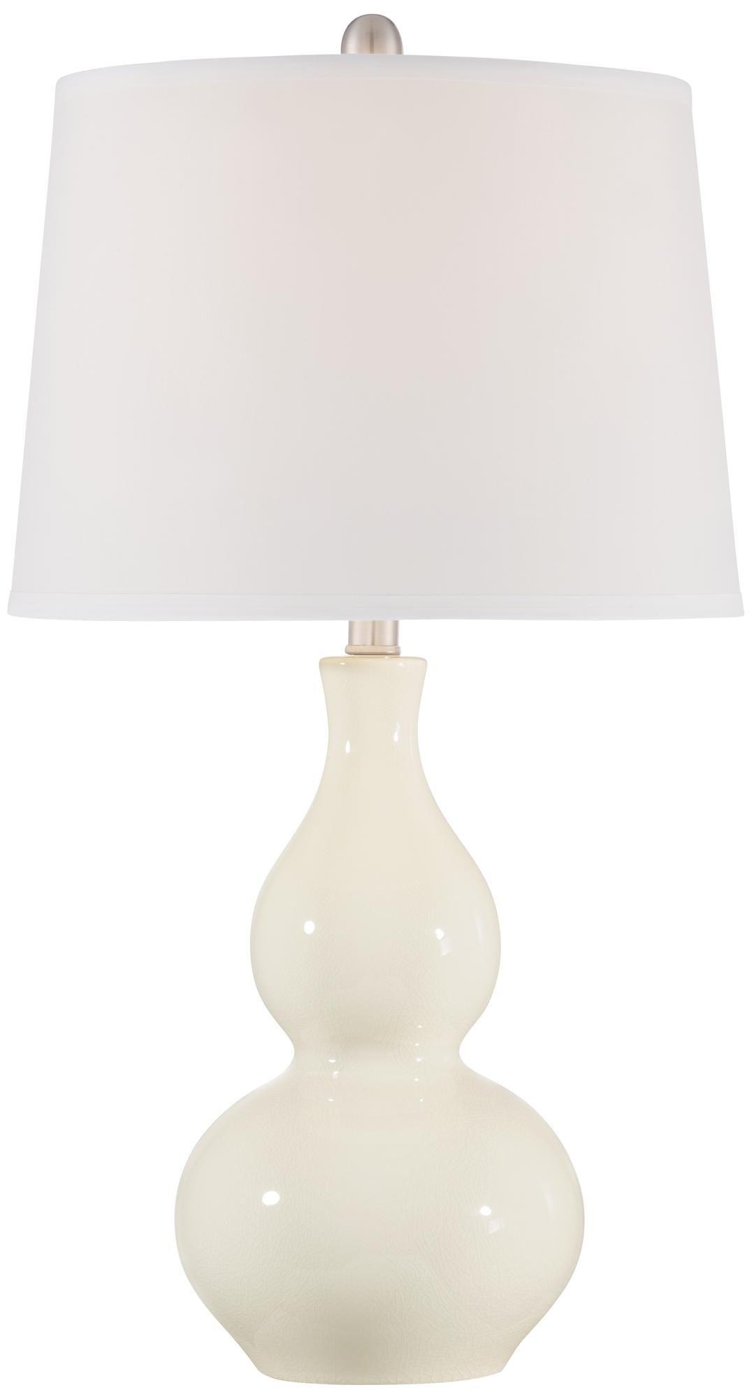 Fergie Cream Ceramic Table Lamp #1G032 | Lamps Plus
