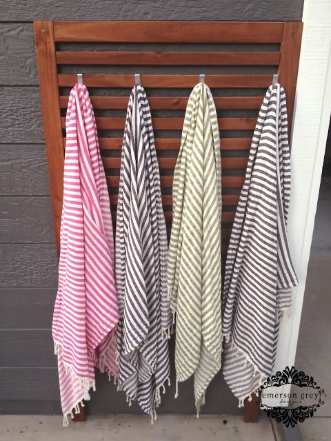 Backyard organization simple solution peshtemal towels for Ikea beach towels