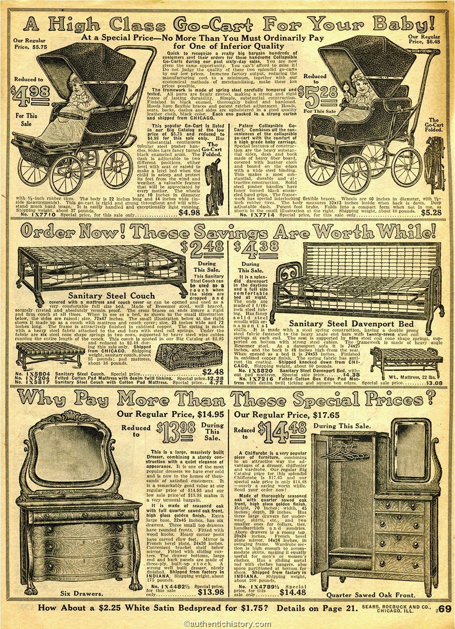 1914 sears household catalog furniture early 20th for Household furniture catalogue
