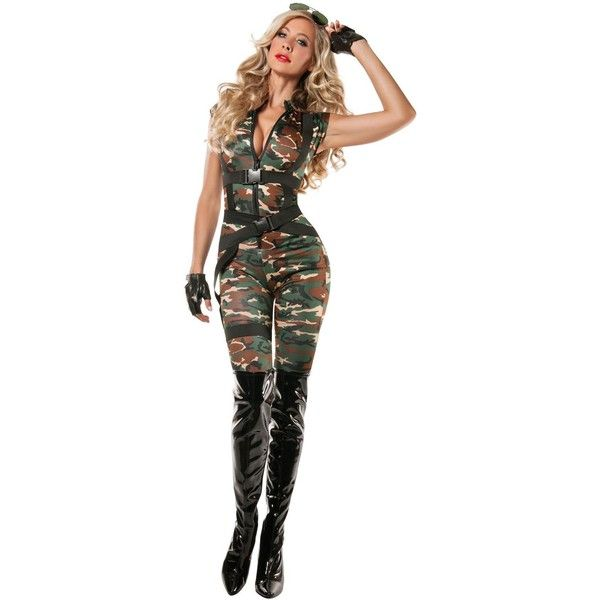 Womens Paratrooper Costume ($33) ? liked on Polyvore featuring costumes halloween costumes camo costume women superhero costumes white halloween ...  sc 1 st  Pinterest & Womens Paratrooper Costume ($33) ? liked on Polyvore featuring ...