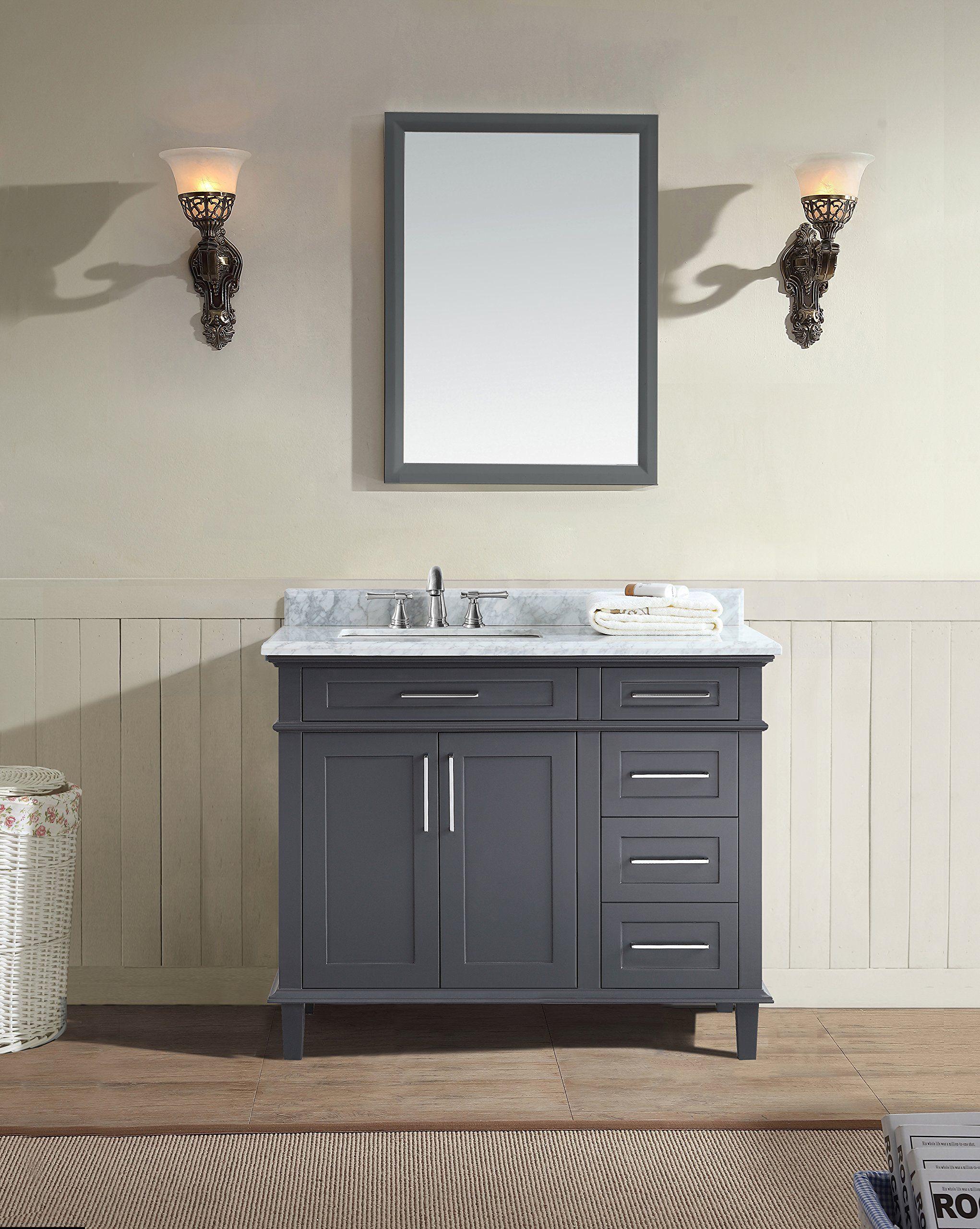 Ari Kitchen And Bath Newport Bathroom Vanity Charcoal Gray 42 W