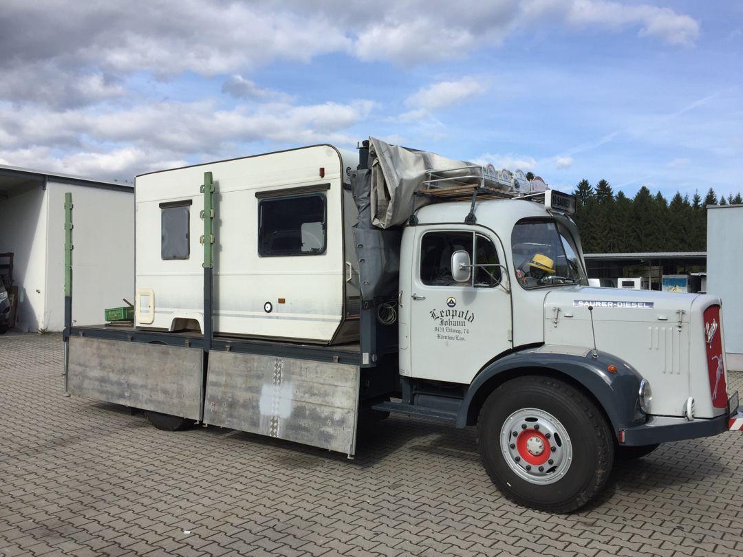 Saurer Camper Truck Camper Wohnwagen Lkw
