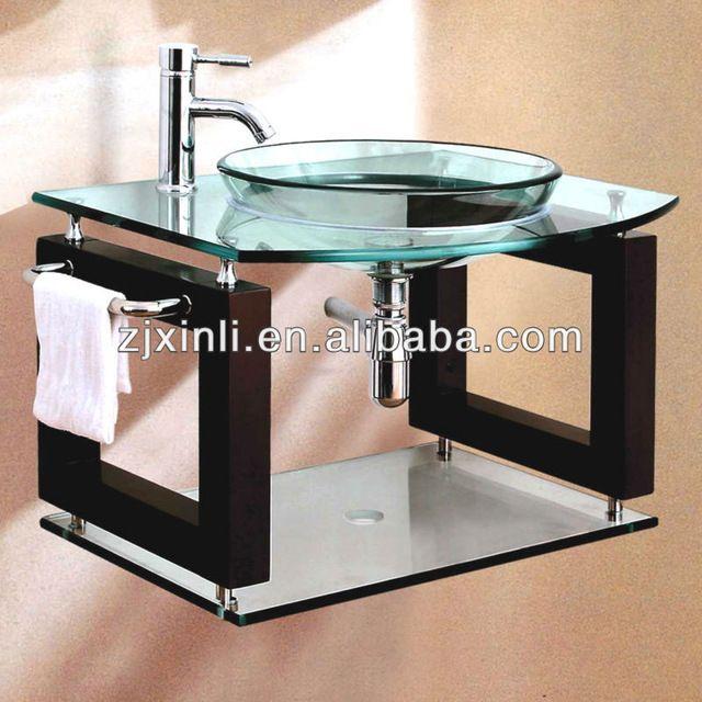 Muebles Bano Lavabo Cristal.Bano Lavabo De Cristal Templado De Alta Calidad Clean Color