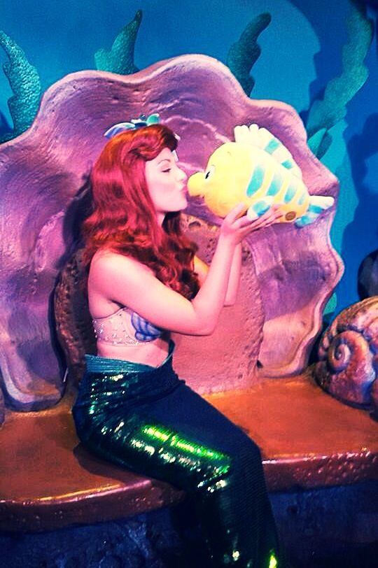 Princess Ariel and Flounder!
