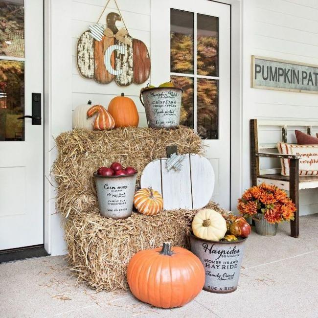 19 Simple Fall Porch Decor Ideas To Inspire Fall Decorations Porch Fall Outdoor Decor Fall Front Porch Decor