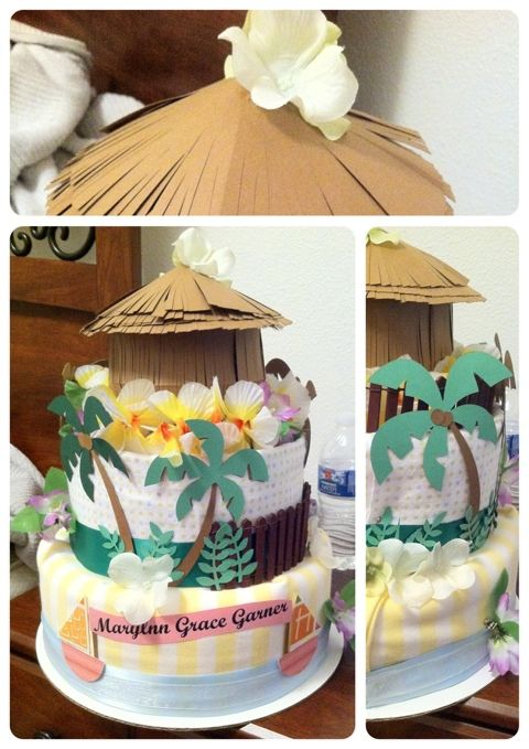 Over The Apple Tree: DIY Diaper Cake