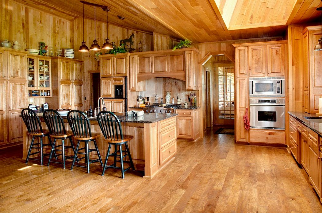 Country Style Kitchen With Wood Elements