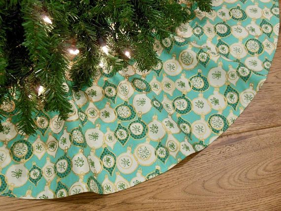 Mid Century Modern Christmas Tree Skirt.Mid Century Modern Christmas Tree Skirt Retro Mod Christmas