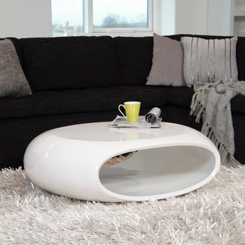 Design Couchtisch Space Fiberglas Tisch Oval Weiss Hochglanz Glasfaser 100x70cm Mobel Wohnen Mobel Coffee Table White Coffee Table White Gloss Coffee Table