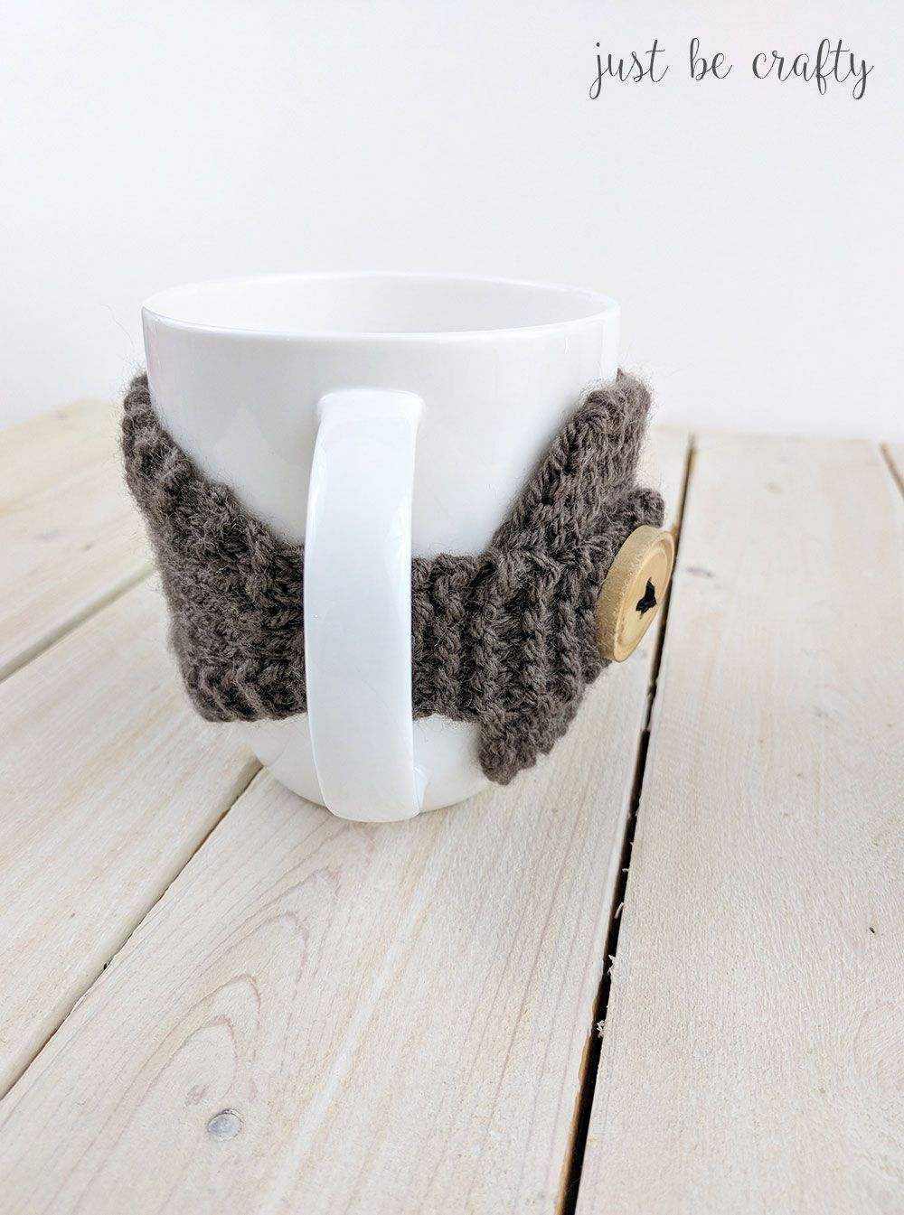 Knitted Coffee Mug Cozy Pattern - Free pattern by | Crafts | Pinterest