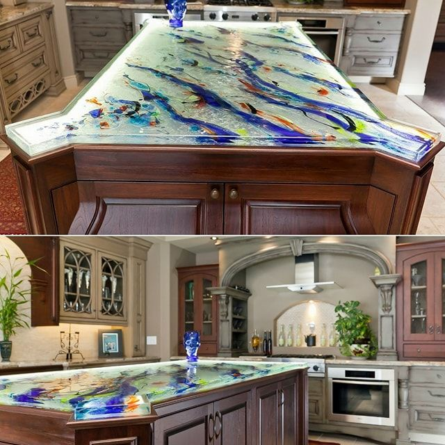 Turn Your Kitchen Into A Real Artwork With Our Artistic Countertops!  Designed And Realized By Our Glass Artist Michel Mailhot, Transparency And  Colu2026