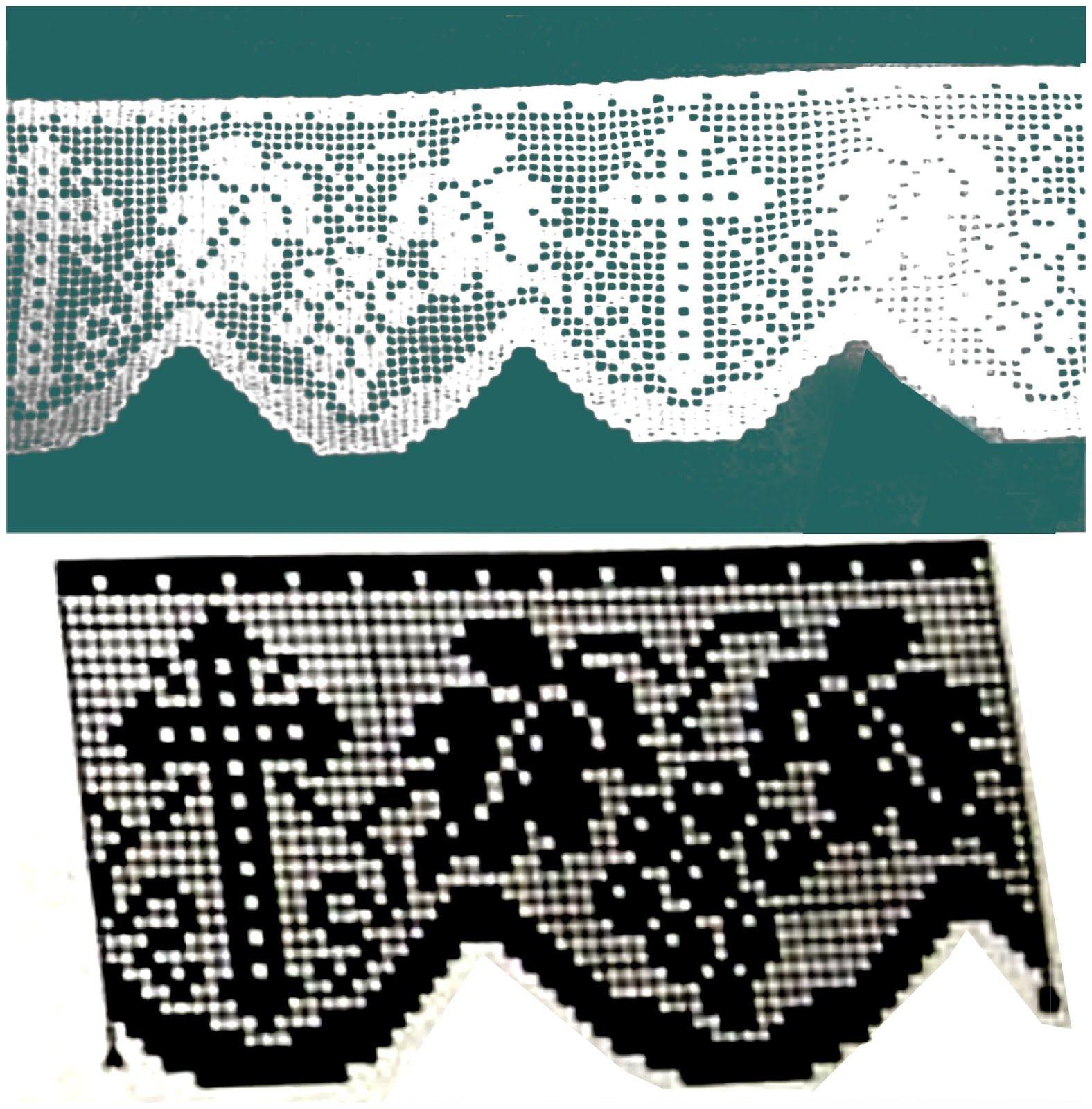 Miria croch s e pinturas barrados de croch com motivos for Disenos de cenefas