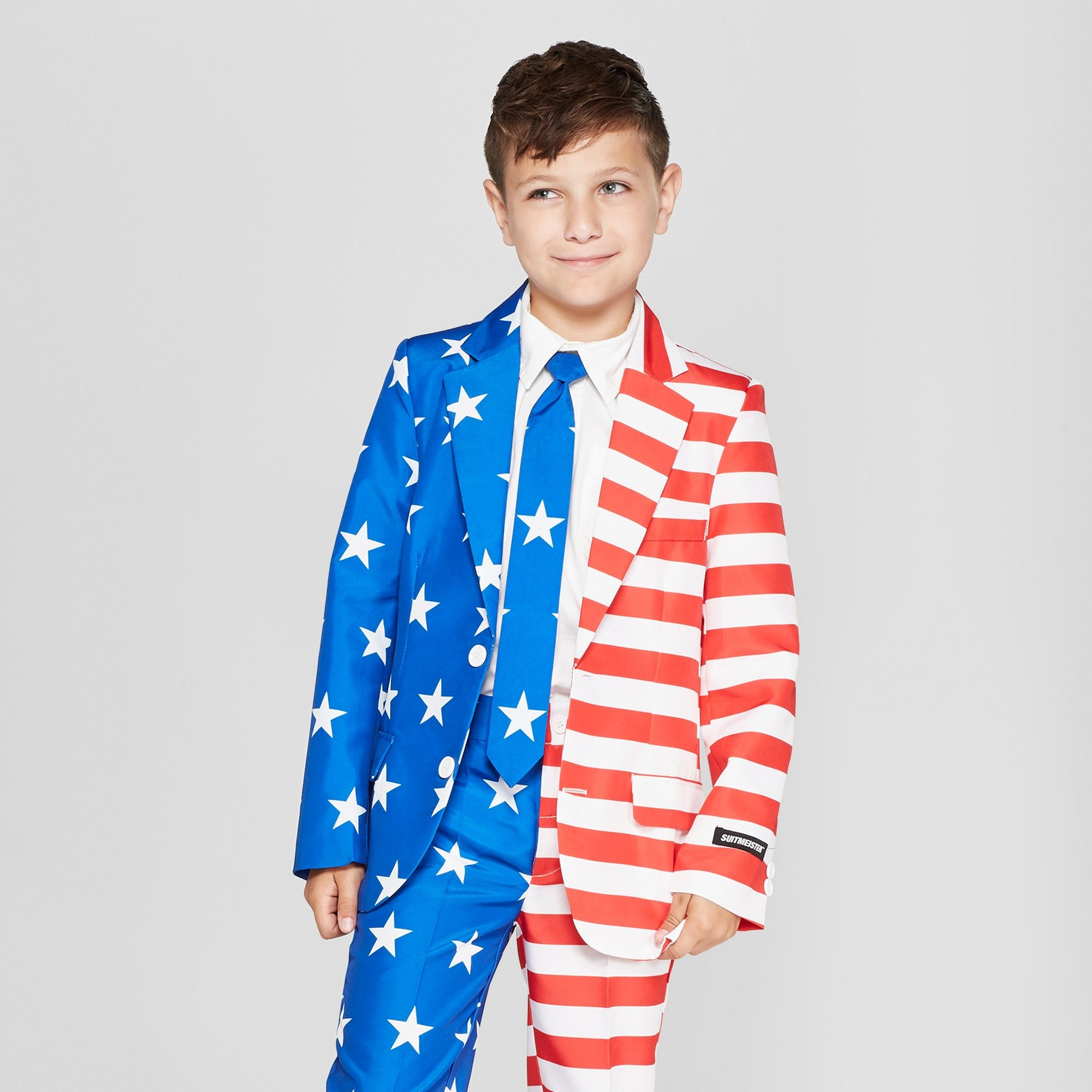 Suitmeister Boys American Flag Full Suit Jacket Xl Multicolored Boys Puffer Jacket All Weather Jackets Clothes