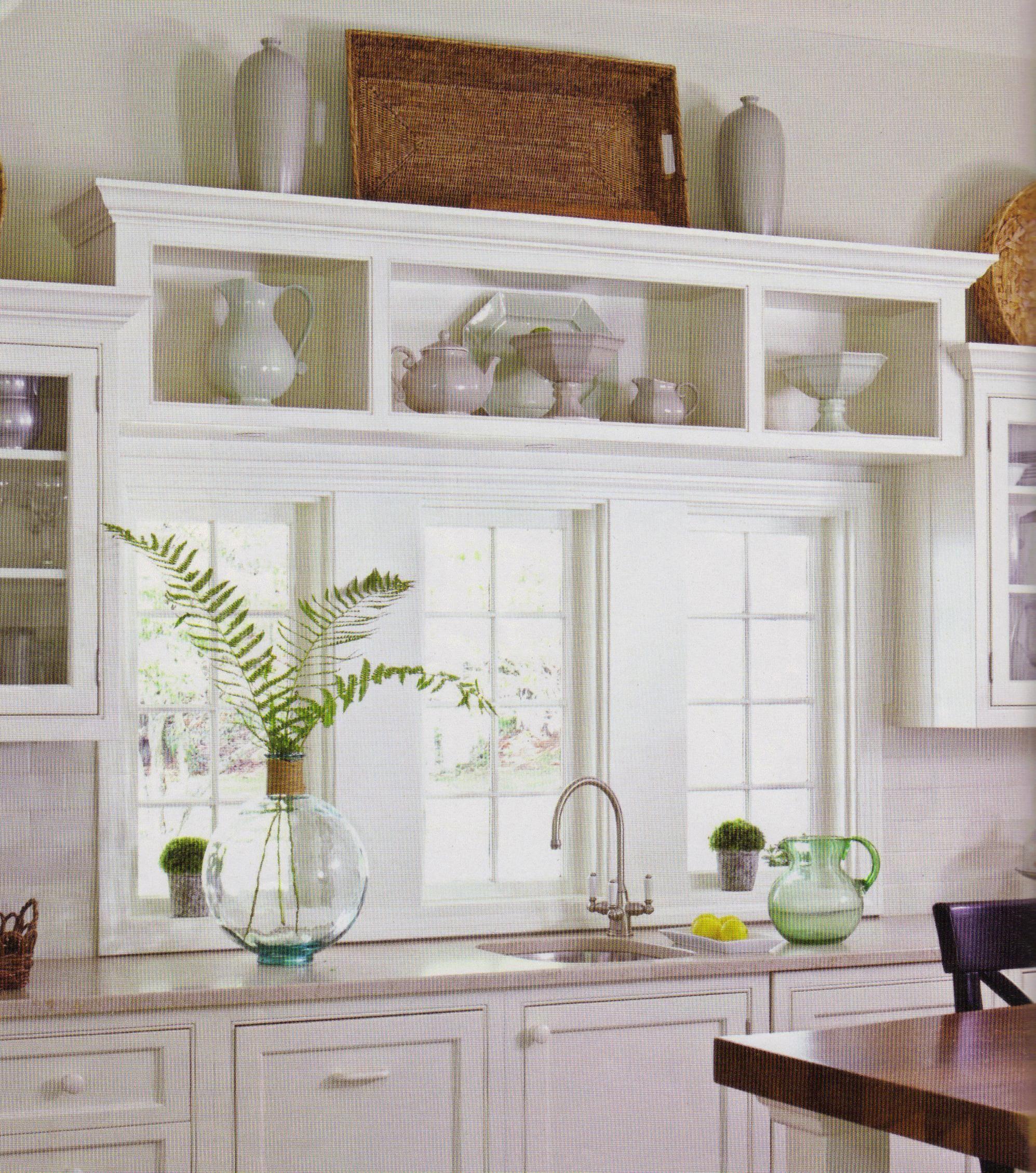 shelf above window concept | Decorating above kitchen ...