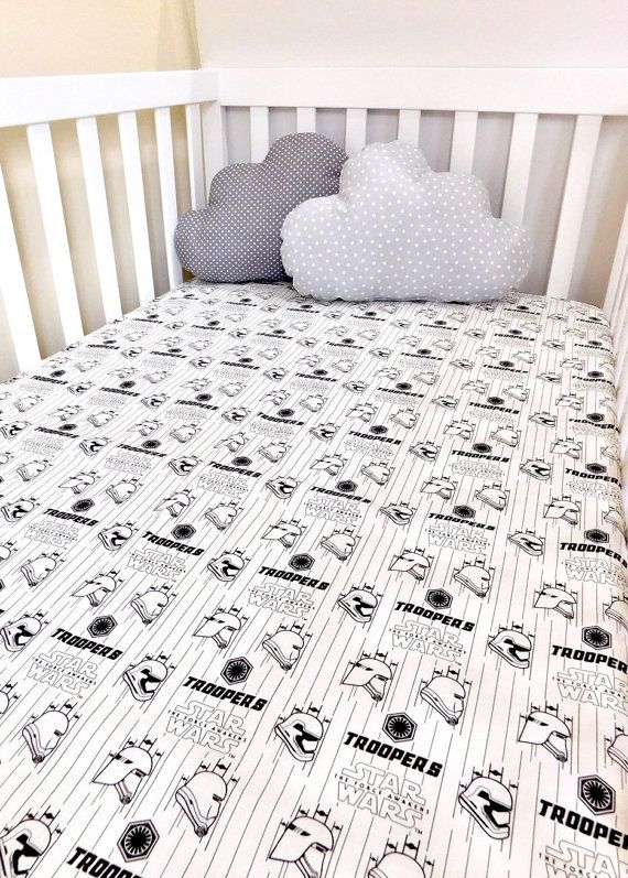 Star Wars Baby Sheet Star Wars Troopers Crib Sheet Star Wars