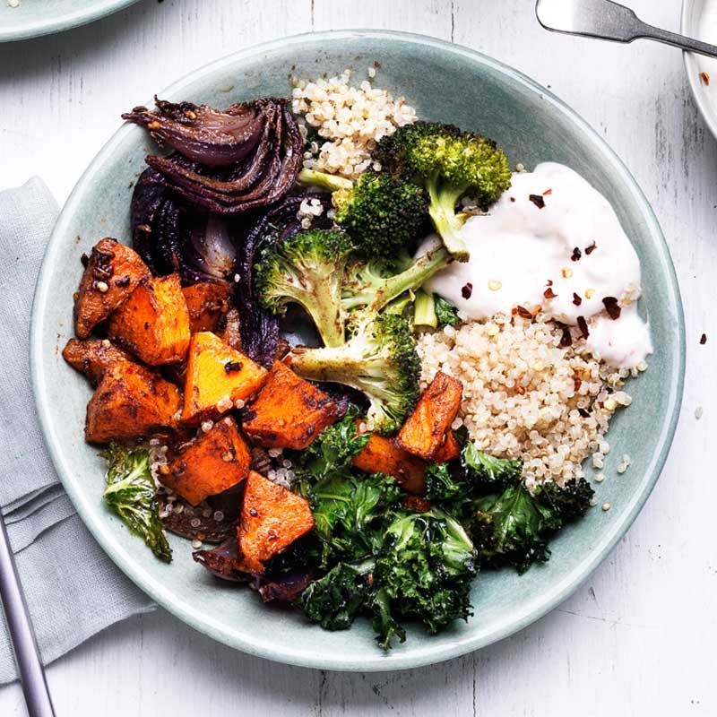 Spiced squash and quinoa bowl -