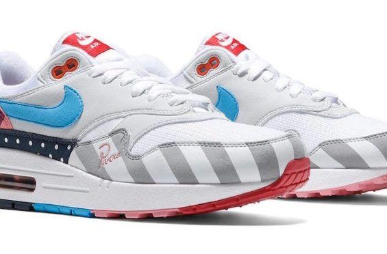 Release Date: Parra x Nike Air Max 1 White Pure Platinum