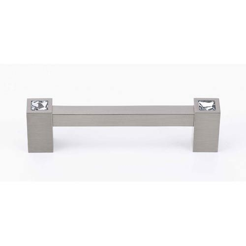 alno inc satin nickel 3 12inch crystal pull cabinet hardware and hardware