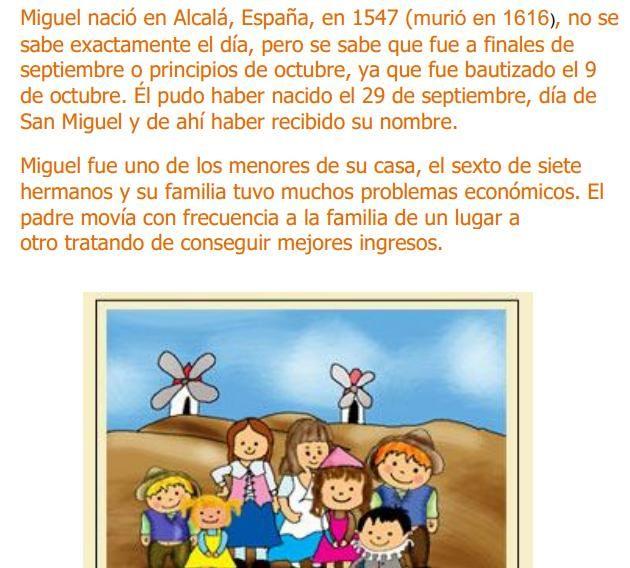 Miguel De Cervantes Saavedra Una Biografia Para Ninos Http