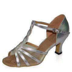 Femmes En Sandales Latin Cuir Lanière Avec Verni Talons Chaussures T tqrtw0O