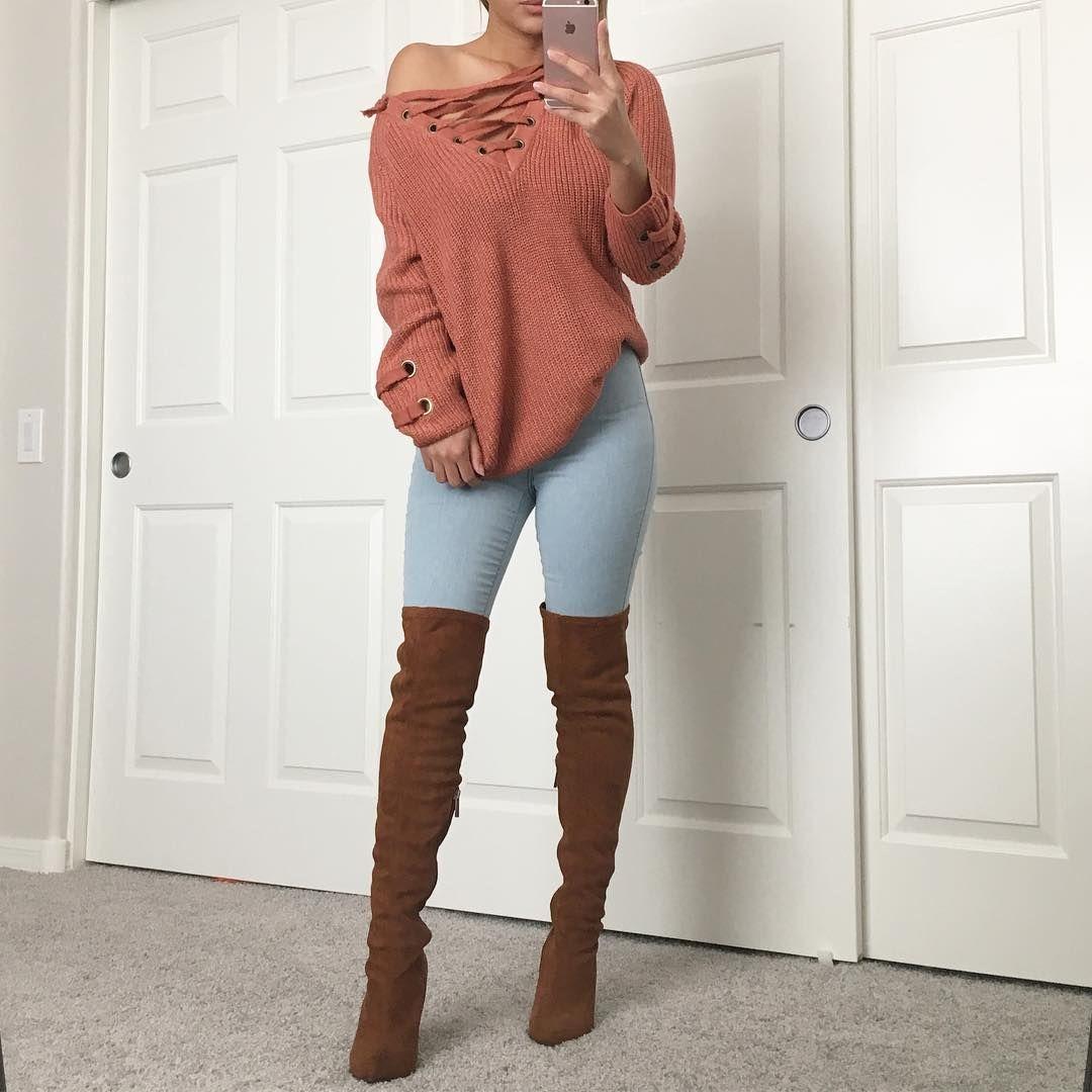 Sweater And Jeans From Fashionnova Fashionnova Www Fashionnova Com And Use Code Xoanna For 15 Off Fashio Fashion Nova Outfits Sweaters And Jeans Fashion